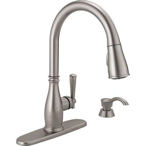 kitchen faucet with sprayer and soap dispenser delta charmaine single handle pull sprayer kitchen