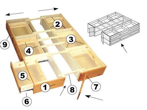 woodwork king size platform bed plans  drawers  plans
