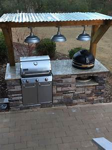 Grilling, Patio, Nestling, A, Built