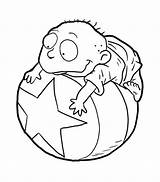 Coloring Rugrats Tommy Pickles Pages Cartoon Pickle Sheets Template Colorluna Printable Luna Getcolorings Characters sketch template
