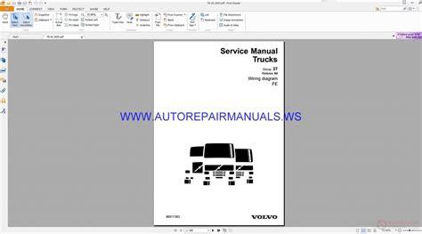 volvo fe trucks wiring diagrams service manual 88917383 auto repair manual forum heavy