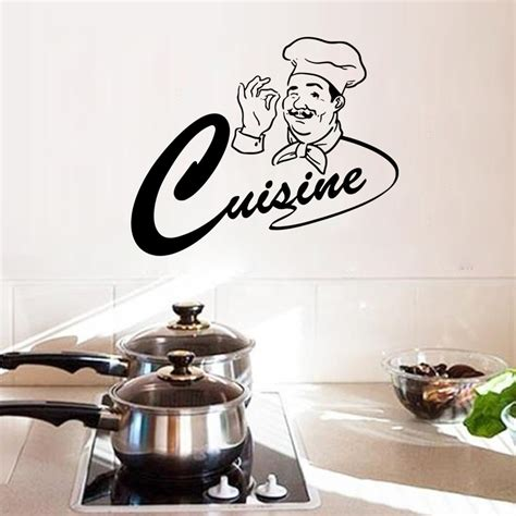 cuisine stickers master chef kitchen room wall stickers home decor