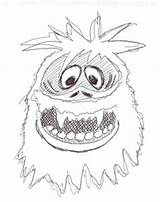 Snowman Abominable Coloring Pages Monster Christmas Rudolph Drawing Snow Drawings Miser Reindeer Heat Nosed Yeti Cartoon Pencil Monsters Craft Step sketch template