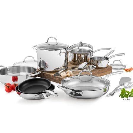 Wolfgang Puck 18 Piece Stainless Steel Cookware Set