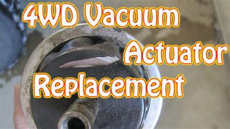 diy   replace  wd vacuum actuator   chevy blazer