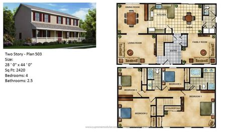 Two Story Home Plans by Supreme Modular Homes Nj Featured Modular Home Two Story Plans