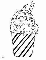 Coloring Pages Cocktail Milk Pancake Sheets Printable Ice Cream Drinks Desserts Adult Print Housework Sheet Categories Puzzle Results Supercoloring Work sketch template