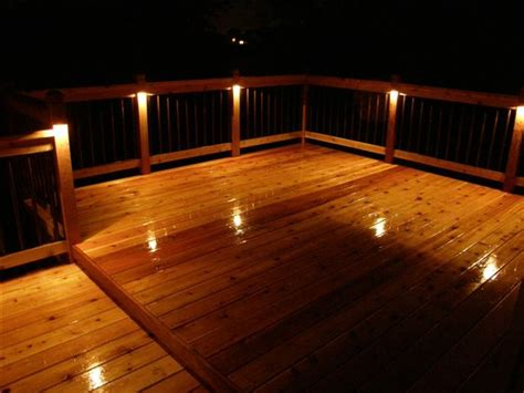 deck lighting enhance your new deck with recessed deck lighting homes and garden journal