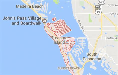 Treasure Island Beach Florida Map