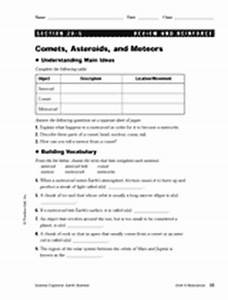 Asteroids Meteorites Comets Worksheets (page 4) - Pics ...