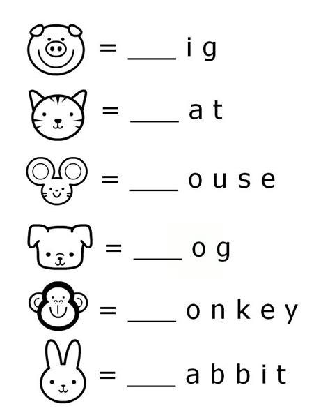 Free Beginning Sounds Letter Worksheets For Early Learners  Worksheets For Kindergarten