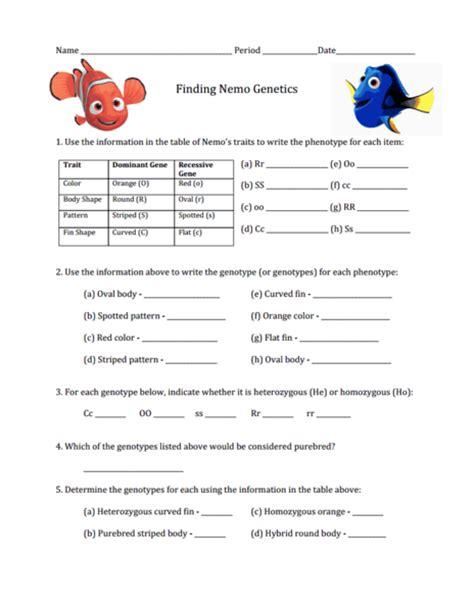 genetics worksheet worksheets genotype and phenotype worksheet opossumsoft