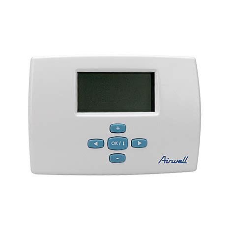 thermostat d ambiance programmable filaire airwell 7acel1592