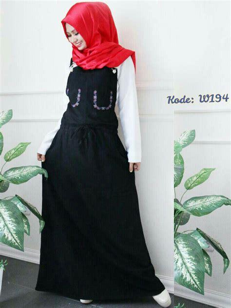 jumpsuit rok serut  baju hijab style ootd
