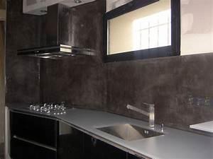 Crédence Béton Ciré : credence beton cire cuisine beton cire sol cuisine ~ Premium-room.com Idées de Décoration