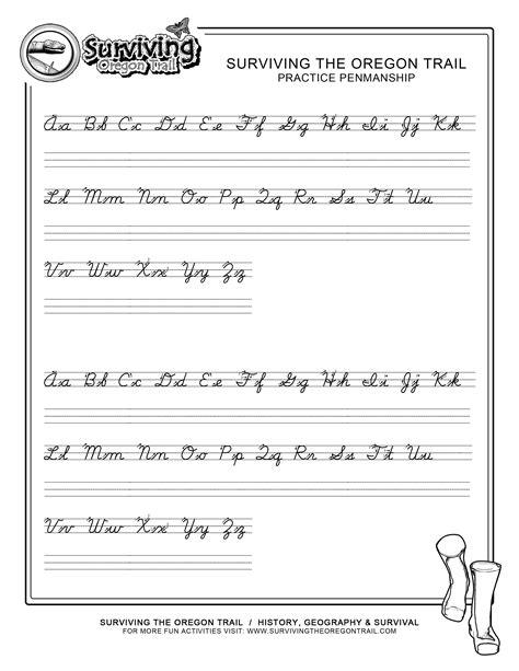 practice penmanship free abc s printable cursive writing