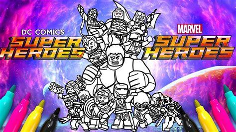 coloring set marvel dc comics superheroes coloring set