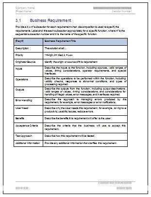 Business Requirements Document Template Sanjonmotel