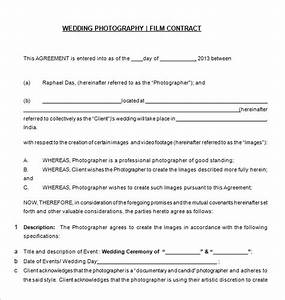 photography contract template 10 free word pdf With free wedding videography contract template