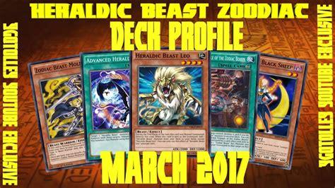 Beast Deck Profile 2017 by Yu Gi Oh Zoodiac Heraldic Beast Deck Profile Updated