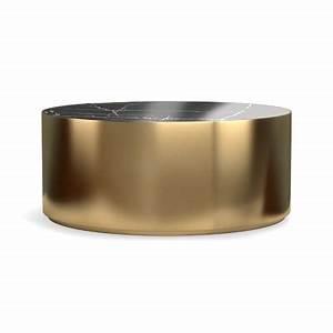 drum metal coffee table black marble williams sonoma With black drum coffee table