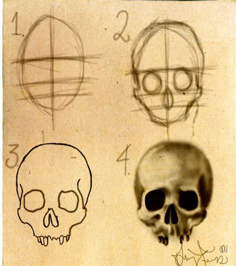 How Draw Skull Stepbystep Dforssten Deviantart