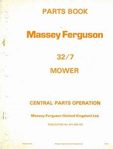 Massey Ferguson 32 Mower Parts Manual