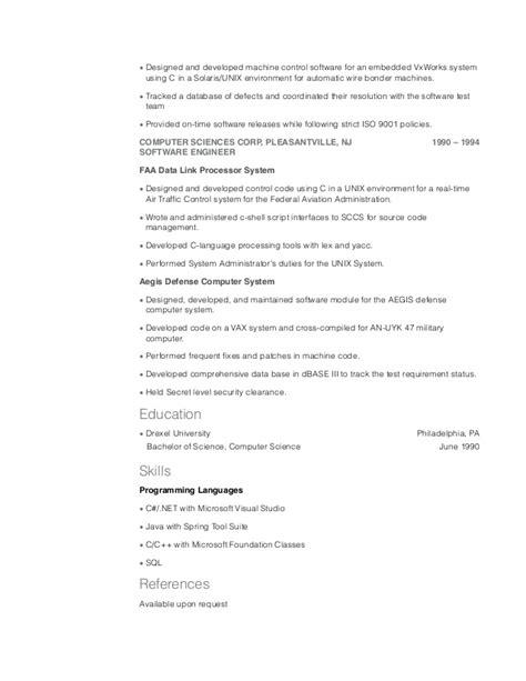 Ppc Resume Pdf by Embedded Vxworks Resume