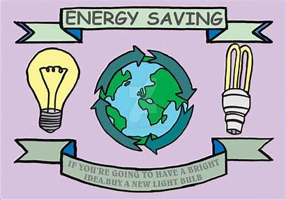Energy Poster Saving Drawing Save Conservation Making
