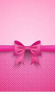 Romantic Vector Pink Background With Cute Bow And Pattern ...