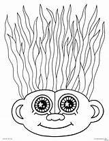 Coloring Crazy Hair Pages Troll Haircut Wacky Doll Drawing Printable Template Trolls Adult Faces Creatures Characters Getcolorings Poppy Adults Colorings sketch template