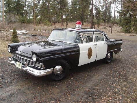 Car Of The Week 1957 Ford Custom Police Car  Old Cars Weekly