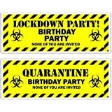 2 Personalised Birthday Banners - Lockdown Design 3 - Any ...