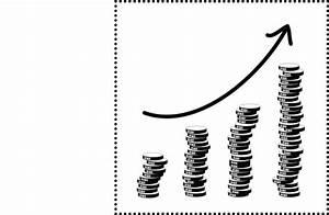 Financial Diagram Increase Stock Illustration