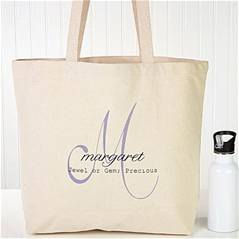 personalized tote bags  meaning monogram