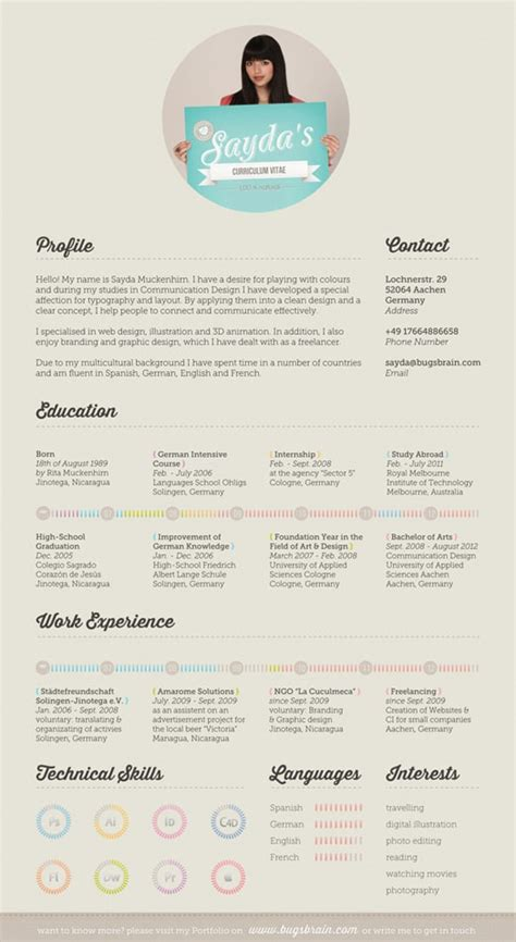 Unique Resume by 50 Great Exles Of Creative Resumes Designrfix
