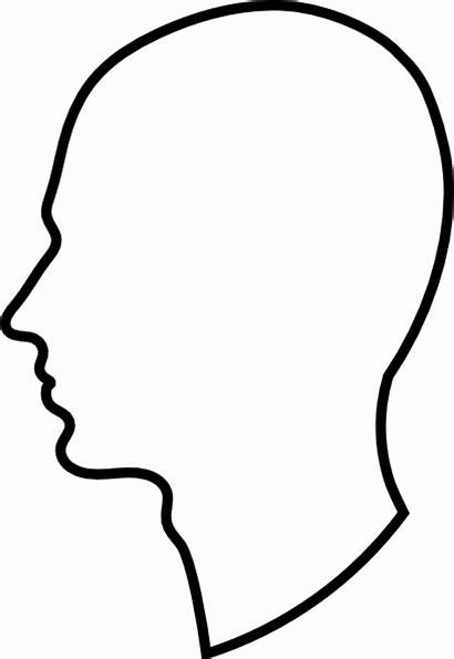 Outline Profile Clipart Clip Clipground Clker Svg