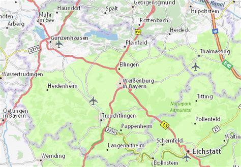 Map of Weißenburg in Bayern - Michelin Weißenburg in ...