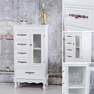 Sideboard Weiß Antik : kommode glas schrank vitrine anrichte wohnzimmerschrank in wei antik sideboard kaufen bei ~ Orissabook.com Haus und Dekorationen