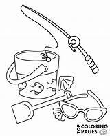Fishing Rod Coloring Sunglasses Pages Sunglass Getcolorings Printable sketch template
