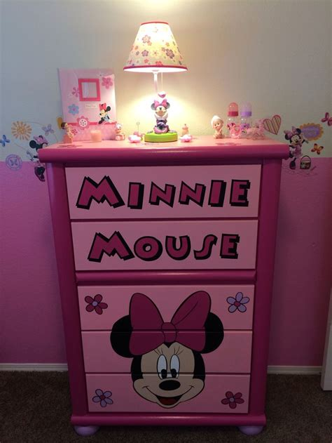 minnie mouse dresser custom minnie dresser accessories minnie mouse nursery