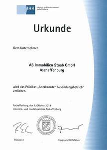AB Immobilien Staab Zertifikate