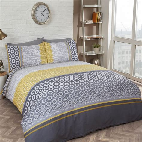 grey king size duvet cover yellow and grey bedding king size