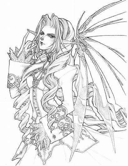Gothic Fairy Fairies Drawings Easy Deviantart Calendar