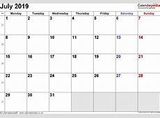 Blank Printable June 2019 Calendar Week Numbers Qualads