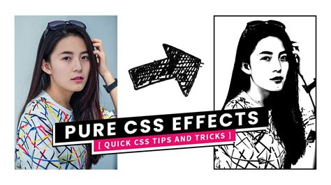 css image hover effects color  black  white portrait effect youtube