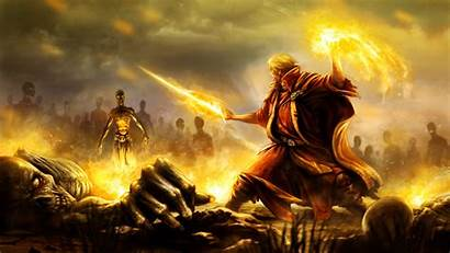 Battlemage Mage Battle Wallpapers Wizard Fantasy Roderick