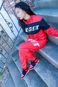 Jacket style dope tumblr outfit nike running shoes black sportswear red and black red ...
