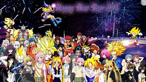 Anime New Year Wallpaper - happy new year 2015 by dbzandsm on deviantart
