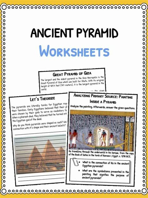 ancient pyramids facts worksheets  kids pyramids